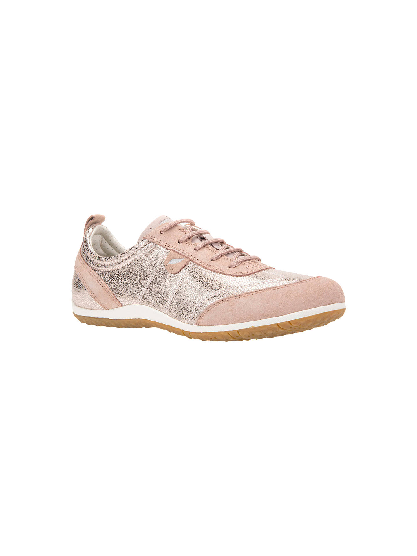 038bd829dccbf ... Buy Geox Vega Lace Up Trainers, Antique Rose, 3 Online at johnlewis.com  ...