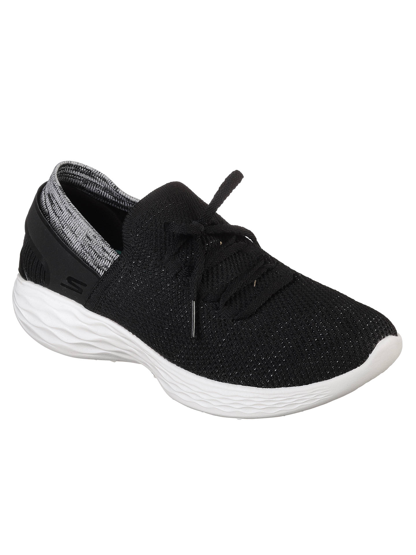 BuySkechers You Spirit Slip On Trainers, Black/White, 5 Online at johnlewis.com