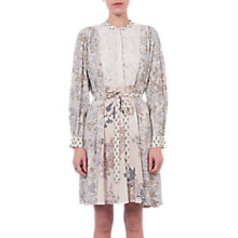 Buy French Connection Rishiri Drape Floral Dress, Classic Cream Multi Online at johnlewis.com