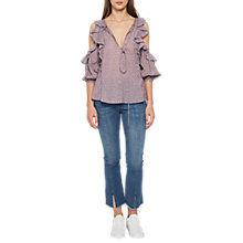 Buy French Connection Elao Voile Cold Shoulder Top, Multi Online at johnlewis.com