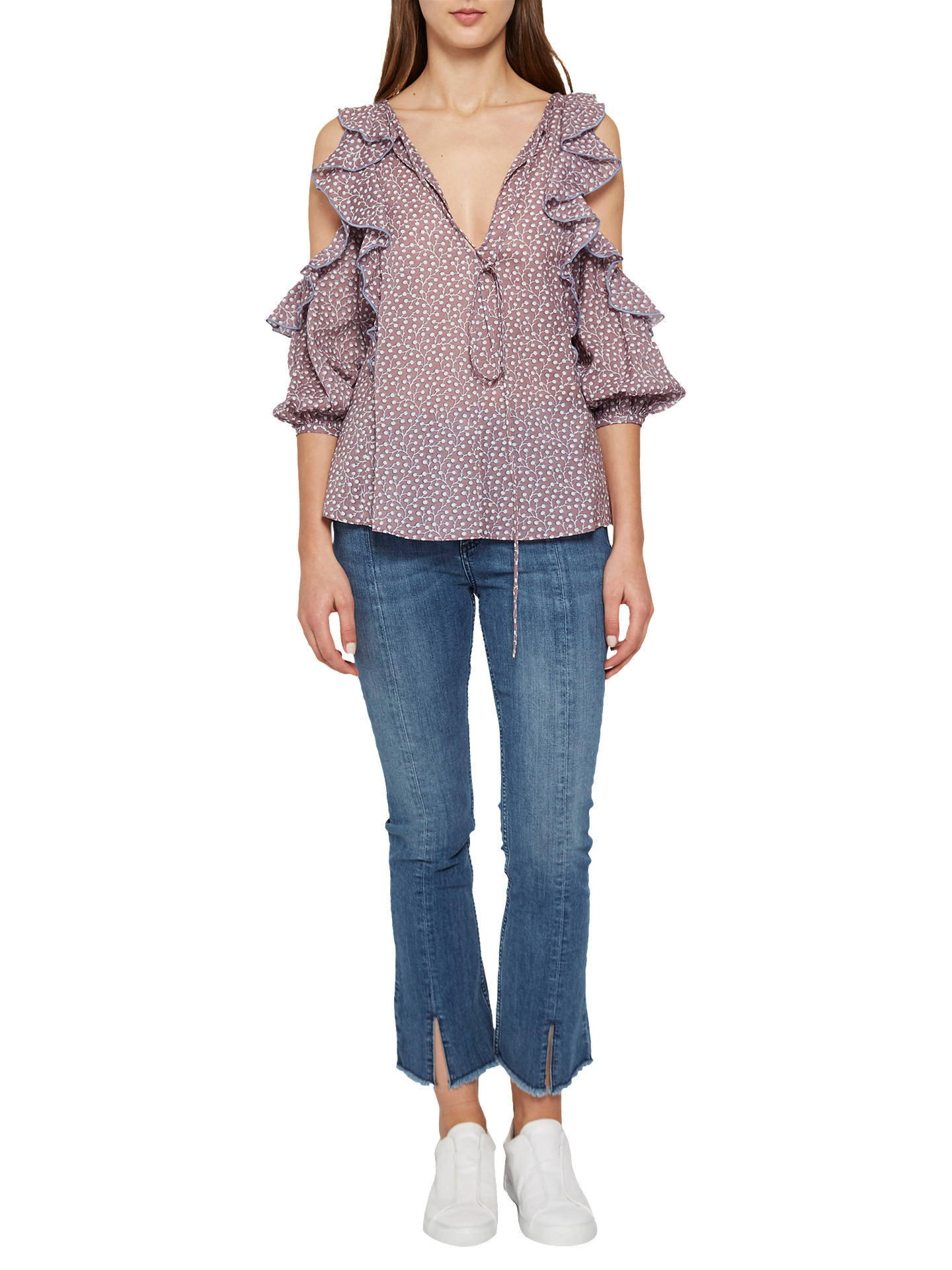 f46004dbdcb4dc Buy French Connection Elao Voile Cold Shoulder Top