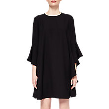 Buy Ted Baker Ashleyy A-Line Waterfall Sleeve Dress, Black Online at johnlewis.com