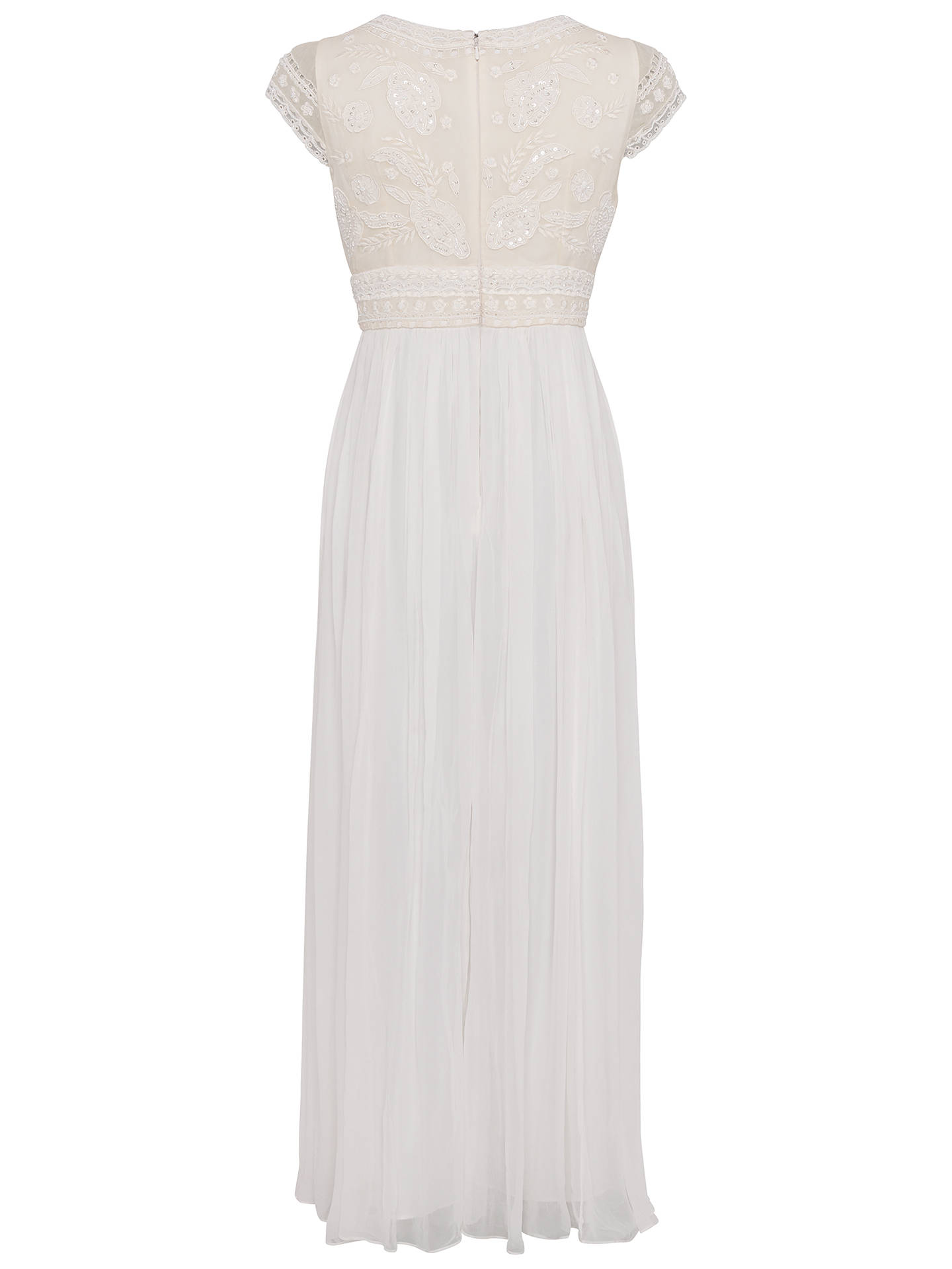 b6bd0a60baa3 Buy French Connection Palmero Embellished Wedding Dress, Summer White, 6  Online at johnlewis.