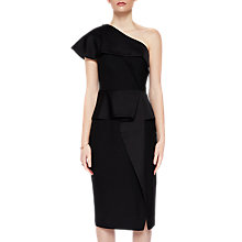 Buy Ted Baker Pana Asymmetric Peplum Dress, Black Online at johnlewis.com