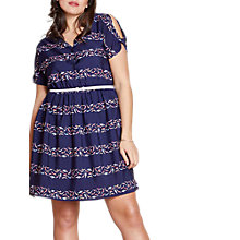 Buy Yumi Curves Cold Shoulder Swimmers Summer Dress, Blue Online at johnlewis.com