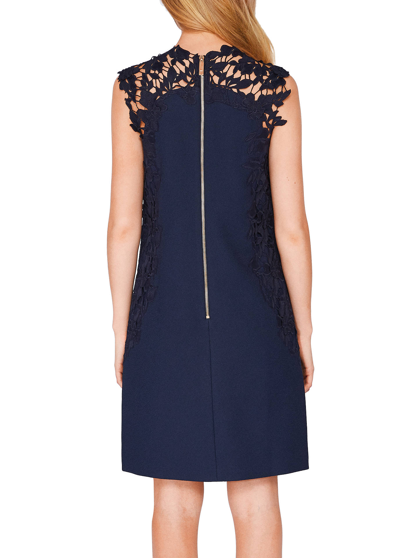 Buy Ted Baker Tie The Knot Andreti Applique Lace Detail Tunic Dress, Navy, 0 Online at johnlewis.com