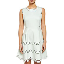 Buy Ted Baker Embroidered Tiered Skirt Dress, Mint Online at johnlewis.com