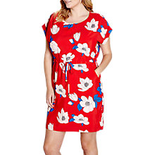 Buy Yumi Curves Floral Dress, Light Red Online at johnlewis.com