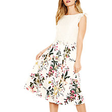 Buy Oasis Lace Top Secret Garden Dress, Multi Online at johnlewis.com