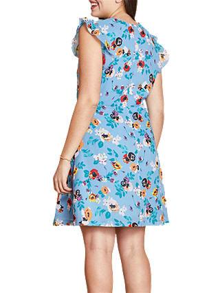 Ladder Front Floral Day Dress