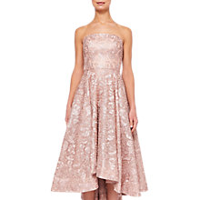 Buy Ted Baker Lucie Jacquard Drop Hem Dress, Pink Online at johnlewis.com