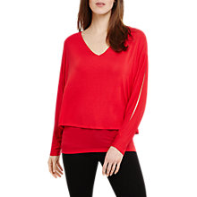 Buy Phase Eight Gisella Double Layer Jumper, Punch Pink Online at johnlewis.com