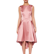 Buy Ted Baker Rhubi Sculpted Dropped Hem Dress, Pink Online at johnlewis.com
