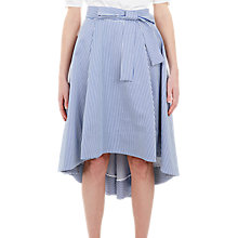 Buy Ted Baker Stripe Drop Hem Cotton Skirt, White/Blue Online at johnlewis.com