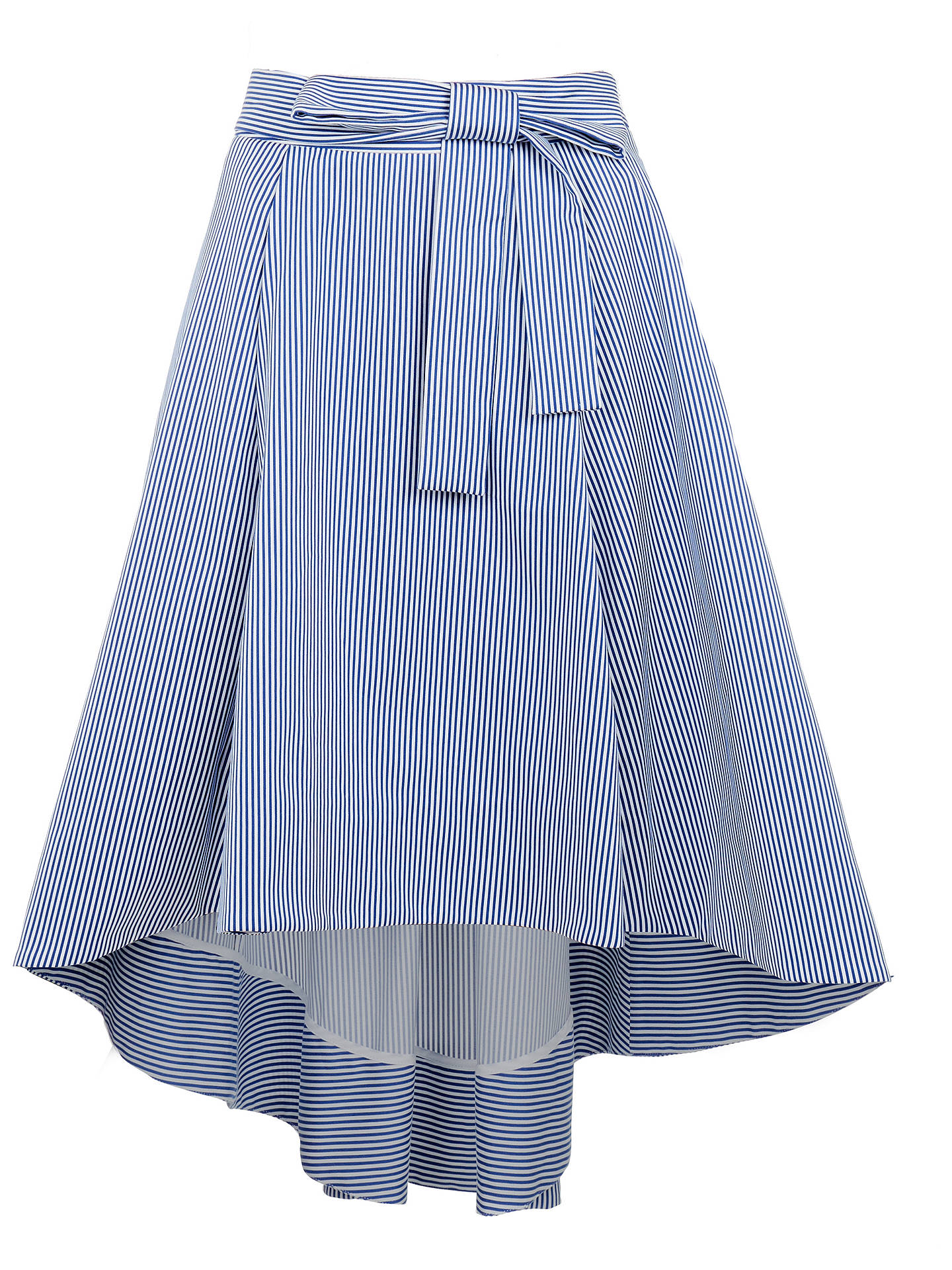 533022886 ... Buy Ted Baker Stripe Drop Hem Cotton Skirt, White/Blue, 6 Online at