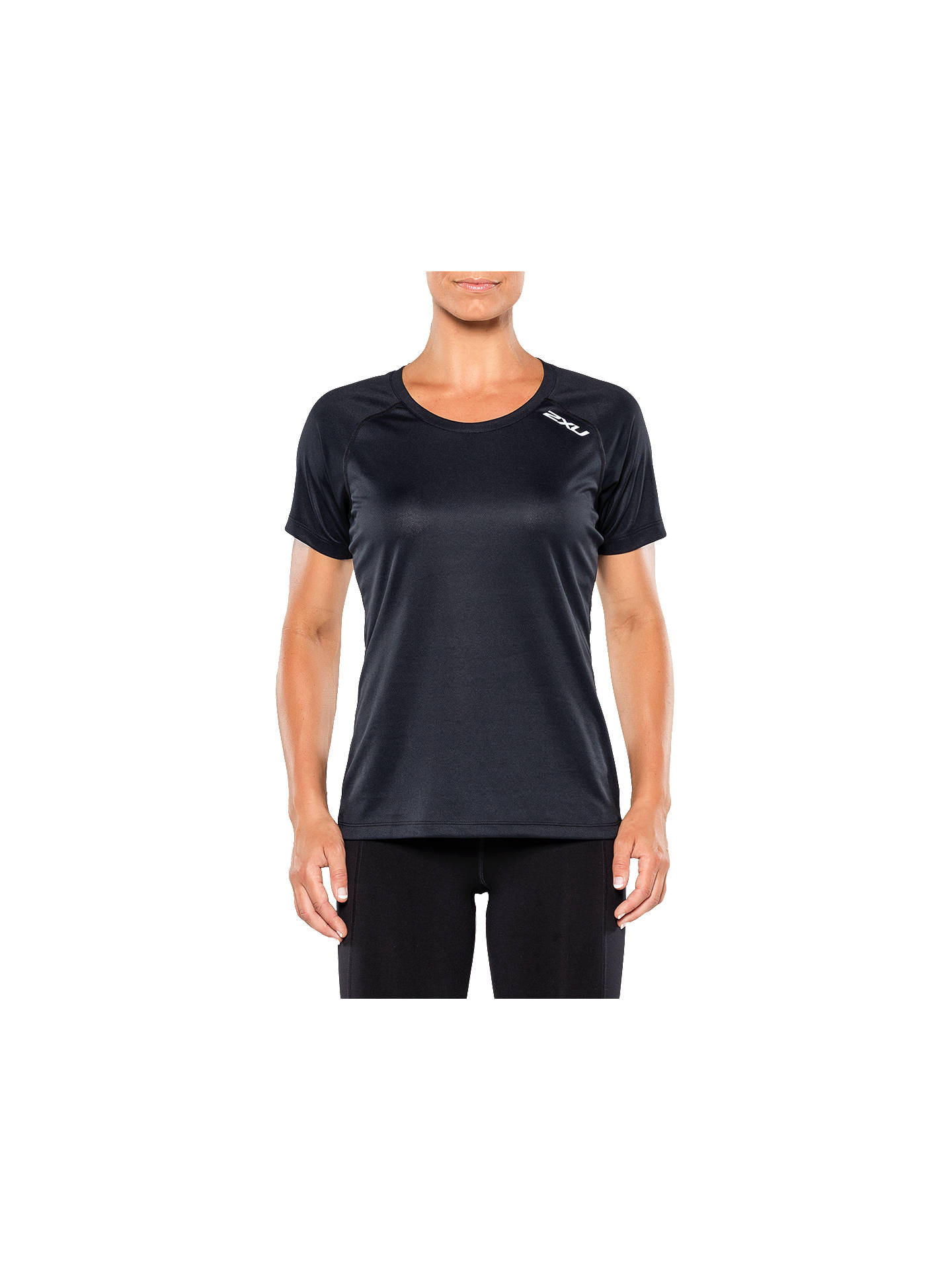 Buy2XU Xvent Short Sleeve Top, Black, XS Online at johnlewis.com