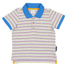 Buy Polarn O. Pyret Baby Polo Stripe Shirt, Grey Online at johnlewis.com