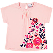 Buy Polarn O. Pyret Baby Floral Print Top, Pink Online at johnlewis.com