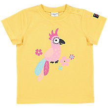 Buy Polarn O. Pyret Baby GOTS Organic Cotton Graphic Parrot Print T-Shirt, Yellow Online at johnlewis.com