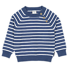 Buy Polarn O. Pyret Baby Striped Jumper, Blue Online at johnlewis.com
