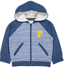 Buy Polarn O. Pyret Children's Hoodie, Blue Online at johnlewis.com