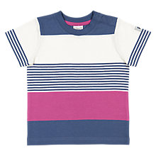 Buy Polarn O. Pyret Baby Striped T-Shirt, Blue/Pink Online at johnlewis.com