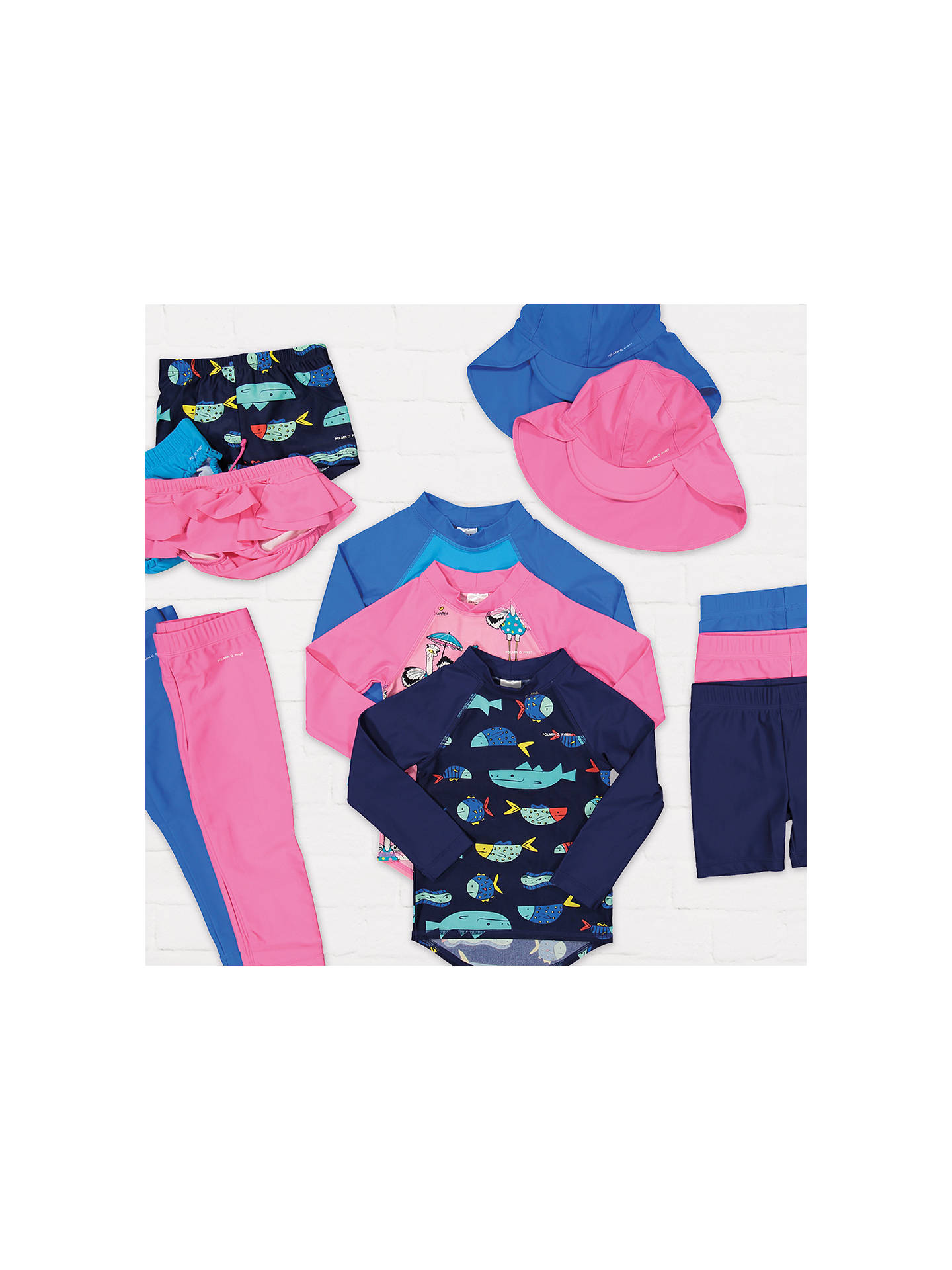 Buy Polarn O. Pyret Baby UV Swim Top, Blue, 6-12 months Online at johnlewis.com