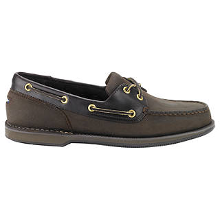 Rockport Perth Leather Boat Shoes, Chocolate