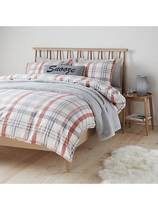 John Lewis Partners In Check Brushed Cotton Duvet Cover Set