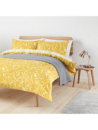 House by John Lewis Dance Party Duvet Cover Set, Mustard