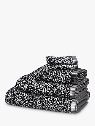 House by John Lewis & Partners Yin Towels, Black/White