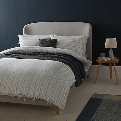 Croft Collection Relaxed Stripe Cotton Bedding, White