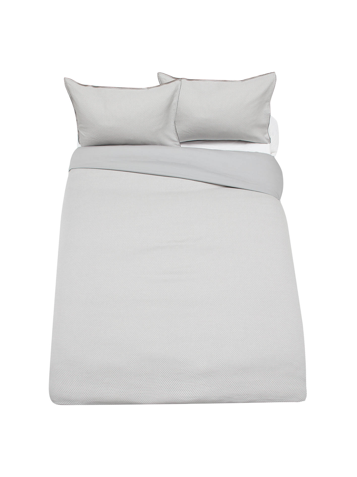 Buy John Lewis & Partners Textured and Decorative  Vienna Oxford Pillowcase, Grey Online at johnlewis.com