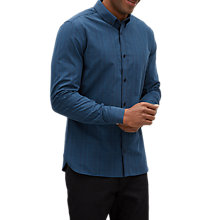 Buy Jaeger Long Sleeve Grid Check Shirt, Dark Blue/Check Online at johnlewis.com