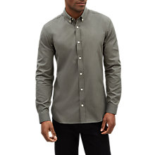 Buy Jaeger Long Sleeve Narrow Pin Stripe Shirt, Sage/Stripe Online at johnlewis.com