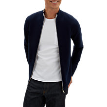 Buy Jaeger Double Face Zip Through Wool Jacket, Navy Online at johnlewis.com