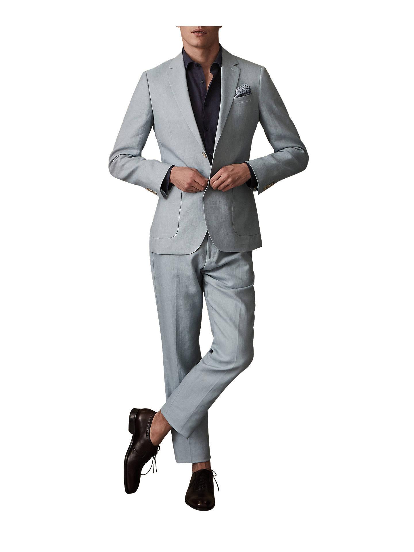fa6b96ddde Reiss Cosmopolitan Linen Wool Suit Jacket, Soft Blue at John Lewis ...