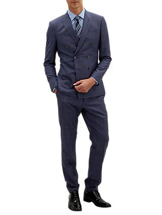Jaeger Shadow Windowpane Check Suit Jacket, Navy