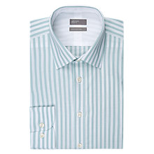 Buy Jaeger Bold Poplin Stripe Shirt, Green/Mid Stripe Online at johnlewis.com