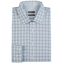 Buy Jaeger Marmalade Contrast Check Shirt, Light Blue Online at johnlewis.com