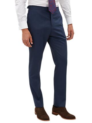 Jaeger Plainweave Slim Fit Trousers, Navy