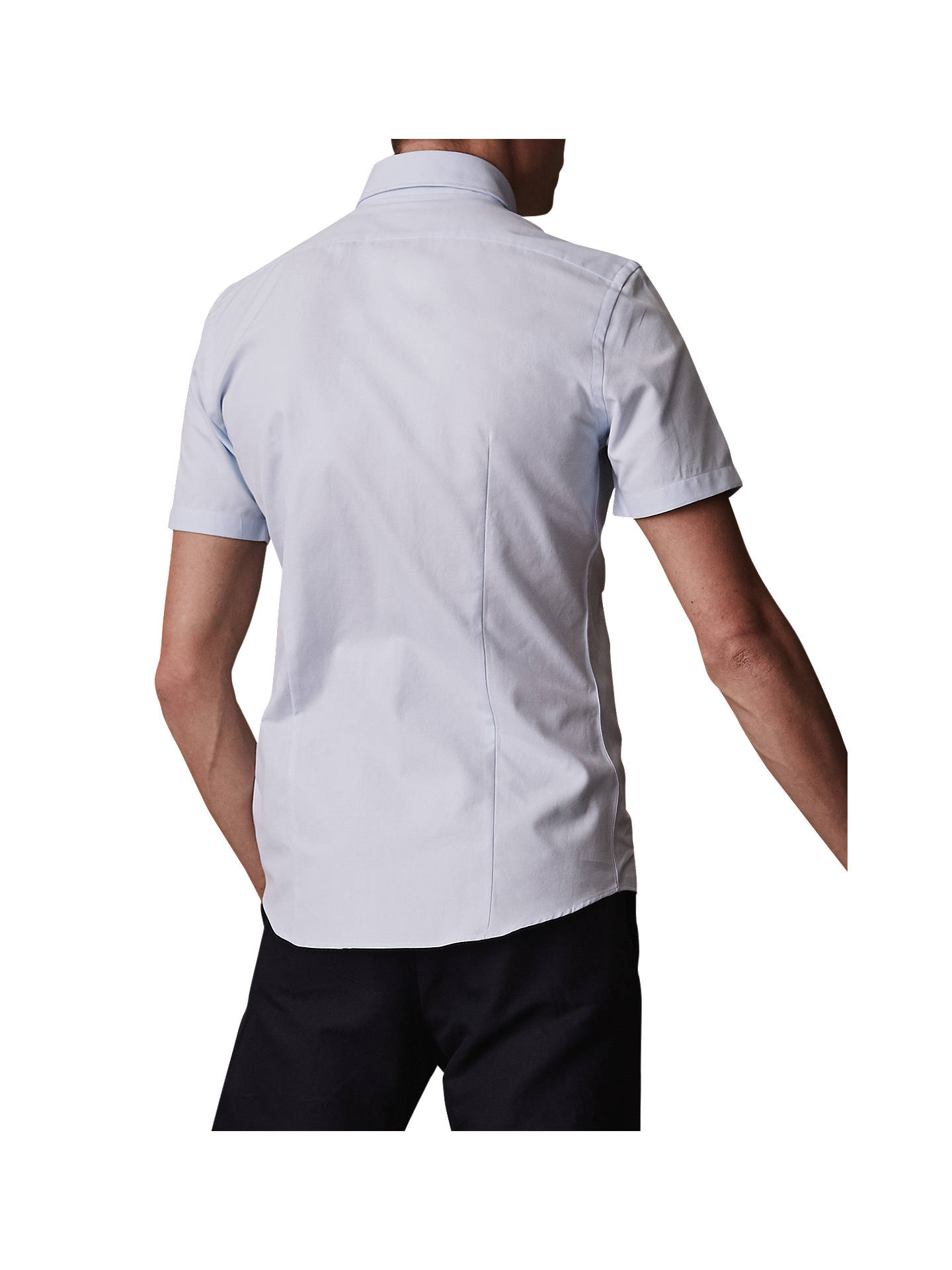 BuyReiss Dunning Short Sleeve Oxford Shirt, Soft Blue, S Online at johnlewis.com