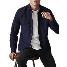 Buy Reiss Harris Long Sleeve Shirt, Indigo Online at johnlewis.com