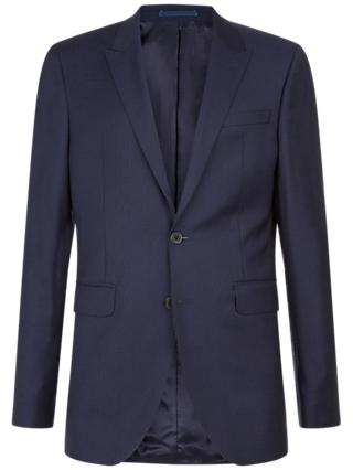 Jaeger Slim Fit Raised Texture Suit Jacket, Navy