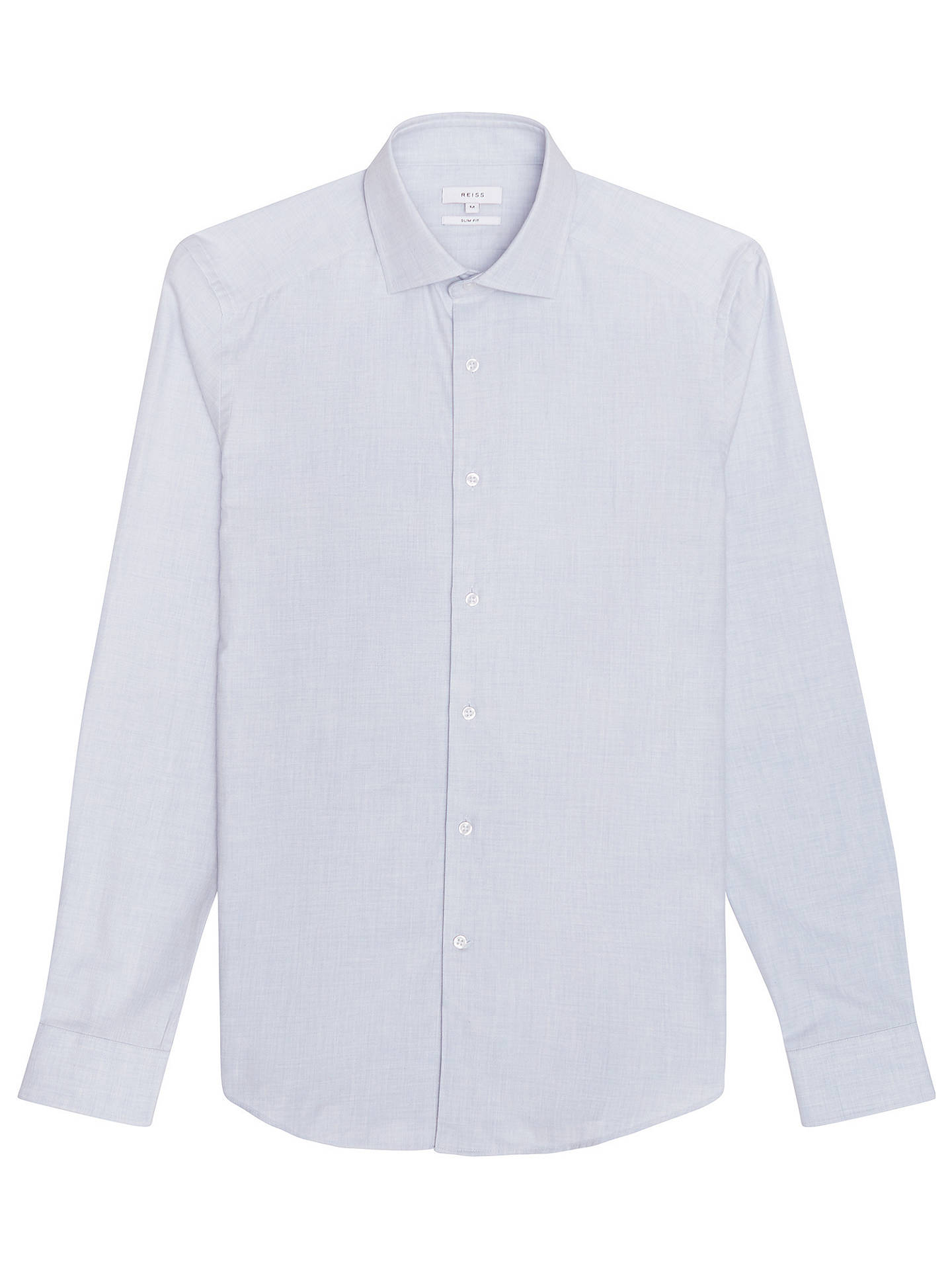 BuyReiss Zetterberg Cotton Slim Fit Shirt, Soft Blue, S Online at johnlewis.com