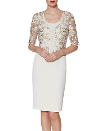 Gina Bacconi Lily Dress And Jacket, Beige