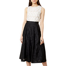 Buy Hobbs Suzette Skirt, Black Online at johnlewis.com