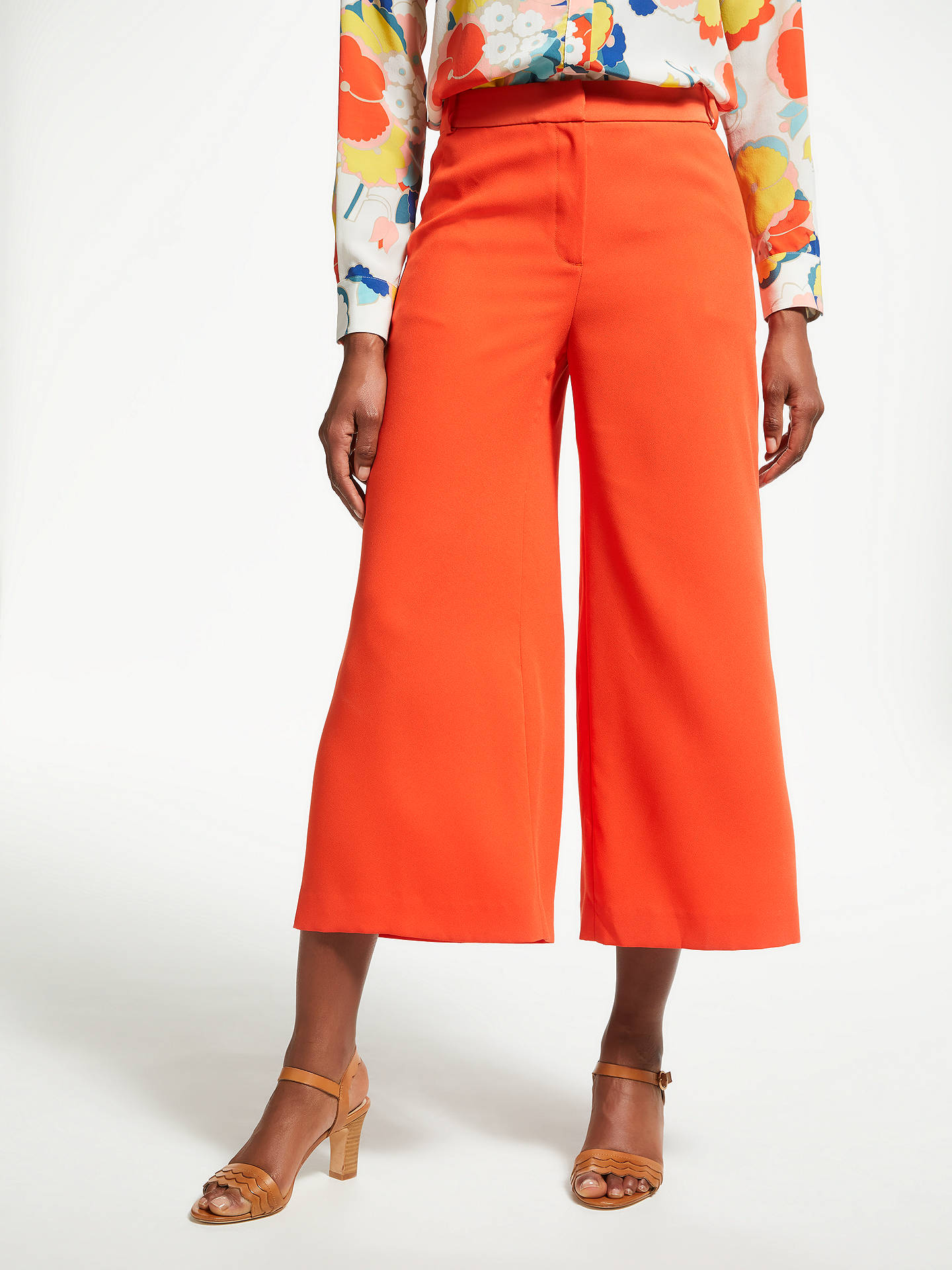 BuyBoden Aurelie Culottes, Blood Orange, 8 Online at johnlewis.com