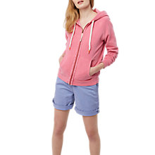 Buy White Stuff Evie Zip Through Hooded Jumper, Pink Online at johnlewis.com