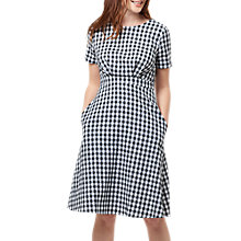Buy Sugarhill Boutique Pure Cotton Jaya Gingham Dress, Black/White Online at johnlewis.com